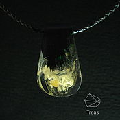 Украшения handmade. Livemaster - original item Golden pendant of black hornbeam and resin. Handmade.