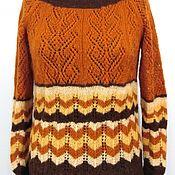 Одежда handmade. Livemaster - original item Pullover (sweater) openwork knitted loose (oversize) mohair. Handmade.