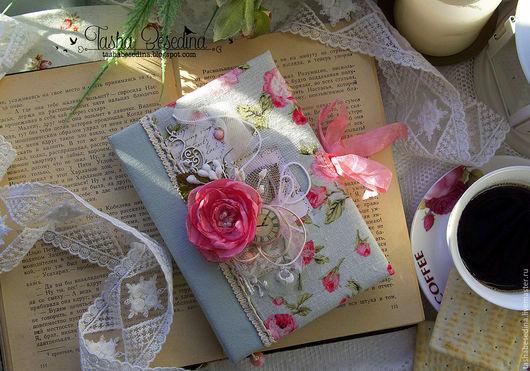 Блокноты ручной работы. Ярмарка Мастеров - ручная работа. Купить Блокнот с розой. Handmade. Розовый, картон переплётный, состаренные страницы