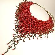 Украшения handmade. Livemaster - original item Red Parfait. Necklace of red coral. Handmade.
