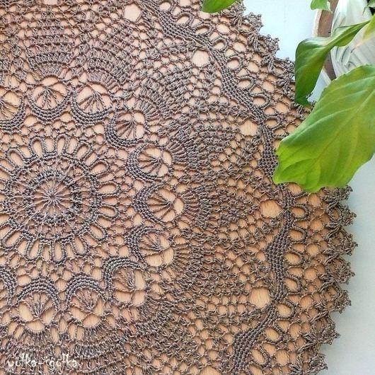 Текстиль, ковры ручной работы. Ярмарка Мастеров - ручная работа. Купить Кружевная салфетка натурального льняного цвета. Handmade. Хаки
