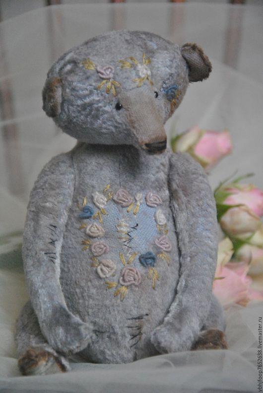 Мишки Тедди ручной работы. Ярмарка Мастеров - ручная работа. Купить Lavender bear. Handmade. Васильковый, вышивка Рококо, для дома