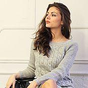 Одежда ручной работы. Ярмарка Мастеров - ручная работа Шерстяной свитер и юбка серый цвет. Handmade.