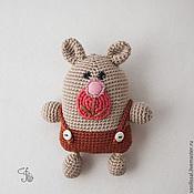 Куклы и игрушки ручной работы. Ярмарка Мастеров - ручная работа Мишка для малышек -  мягкая вязаная игрушка.. Handmade.