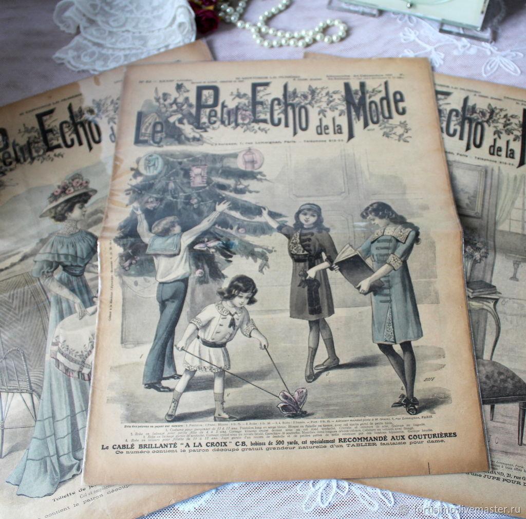 Винтаж: Le Petit Echo de la Mode-журнал мод , Франция, Книги винтажные, Москва,  Фото №1