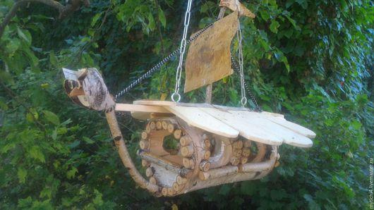 """Для других животных, ручной работы. Ярмарка Мастеров - ручная работа. Купить Кормушка для птиц """"Летучий корабль"""". Handmade. береза"""