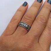 Украшения handmade. Livemaster - original item Ring Flower pattern. 925 sterling silver. Handmade.