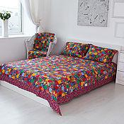 "Русский стиль handmade. Livemaster - original item Bedspread patchwork""Colorful""double. Handmade."