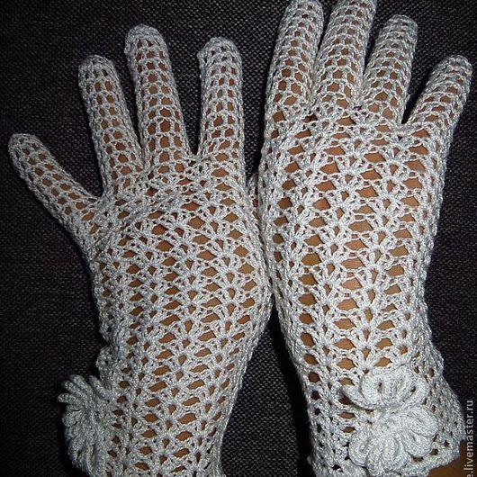 Варежки, митенки, перчатки ручной работы. Ярмарка Мастеров - ручная работа. Купить перчатки Ажурные. Handmade. Белый, аксессуары для свадьбы
