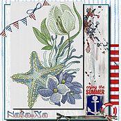 Материалы для творчества handmade. Livemaster - original item STARFISH (set). Design in machine embroidery. Handmade.