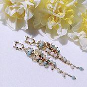 Украшения handmade. Livemaster - original item Earrings with natural citrine and beryl