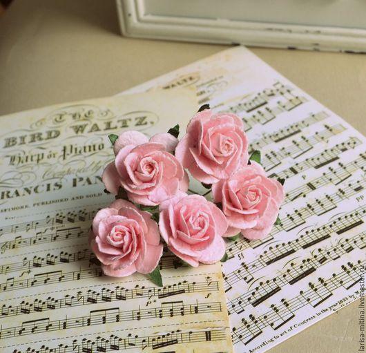 Куклы и игрушки ручной работы. Ярмарка Мастеров - ручная работа. Купить Букет Ц29-Т розы бледно-розовые. Handmade.