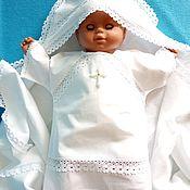 """Комплект для крещения ручной работы. Ярмарка Мастеров - ручная работа Крестильный набор для мальчика """"Николай"""" 0-2года. Handmade."""