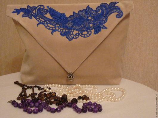 Персональные подарки ручной работы. Ярмарка Мастеров - ручная работа. Купить сумочка-конверт для белья. Handmade. Бежевый, сумочка-конверт