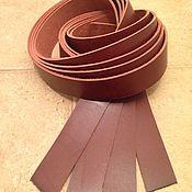 Мех ручной работы. Ярмарка Мастеров - ручная работа Заготовки для ремней (3,2 мм) бордово-коричневый НЕТ В НАЛИЧИИ. Handmade.