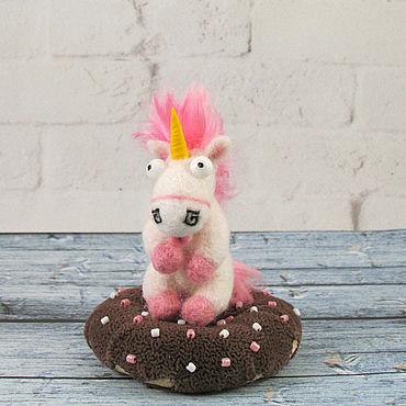 Dolls & toys handmade. Livemaster - original item The unicorn on the donut. Handmade.