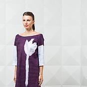 """Одежда ручной работы. Ярмарка Мастеров - ручная работа Валяное платье """"Фиолетовый тюльпан"""". Handmade."""