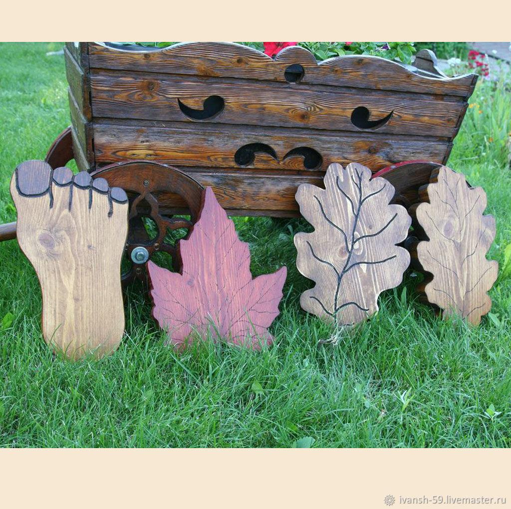 Экстерьер и дача ручной работы. Ярмарка Мастеров - ручная работа. Купить Дорожка декоративная - ступни, шишки, листья клена или дуба. Handmade.