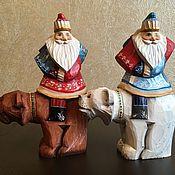 Подарки к праздникам ручной работы. Ярмарка Мастеров - ручная работа Дед Мороз на медведе. Handmade.