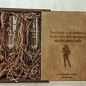 Посуда handmade. Livemaster - original item Set of champagne glasses. Handmade.