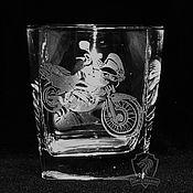 Посуда handmade. Livemaster - original item Biker. A glass of whiskey. Handmade.