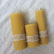 Свечи ручной работы. Ярмарка Мастеров - ручная работа Свечи из вощины. Handmade.