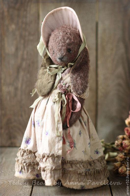 Мишки Тедди ручной работы. Ярмарка Мастеров - ручная работа. Купить Элизабет. Handmade. Коричневый, мохер, масляные краски
