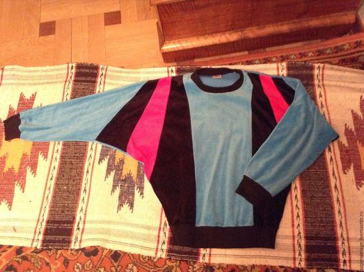 Одежда. Ярмарка Мастеров - ручная работа. Купить Джемпер бархатный, Индия, винтаж. Handmade. Комбинированный, джемпер, велюровый, винтаж, яркий