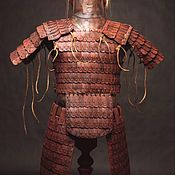 Субкультуры handmade. Livemaster - original item Set of lamellar leather armor. Handmade.