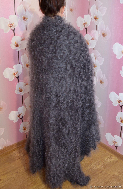 Shawls: Shawl down shawl plaid goat down 140*140 cm, Shawls1, Urjupinsk,  Фото №1