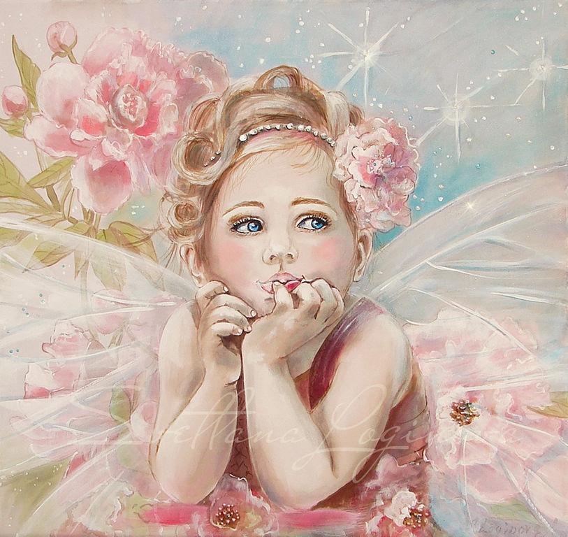 принимаю заказ на создание портрета ребенка или молодой женщины