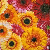 Материалы для творчества handmade. Livemaster - original item 9pcs napkin for decoupage flower fields calendula Daisy print. Handmade.