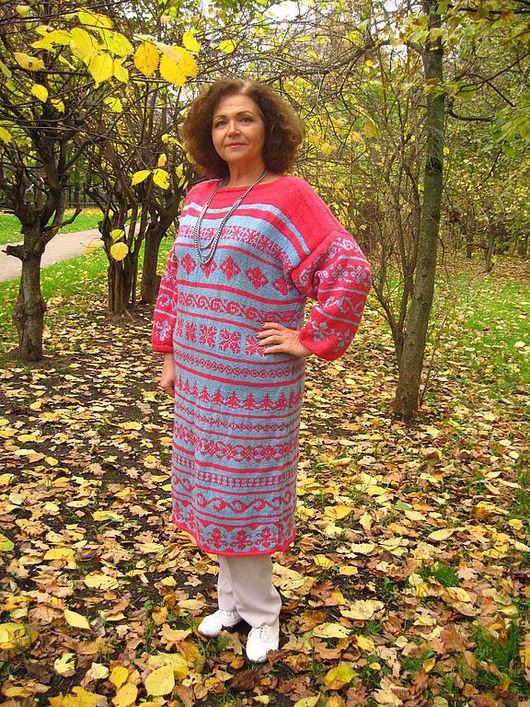 Платья ручной работы. Ярмарка Мастеров - ручная работа. Купить Кантри. Handmade. Платье вязаное, теплый, пряжа пав