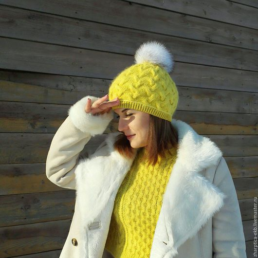 Шапки ручной работы. Ярмарка Мастеров - ручная работа. Купить Осенняя шапочка с косами, шапка на осень. Handmade. Шапочка