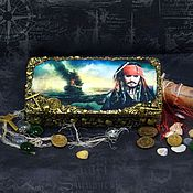 """Сувениры и подарки handmade. Livemaster - original item Купюрница """"Пираты Карибского моря - Джек Воробей"""". Handmade."""