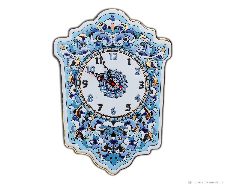 Watch 'Gzhel' decorative,porcelain,wall, Watch, Moscow,  Фото №1
