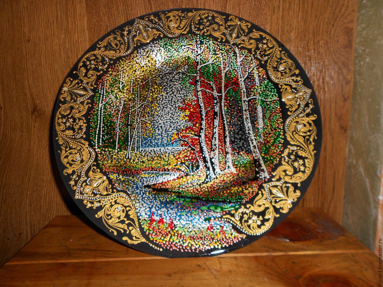 тарелка пейзажи