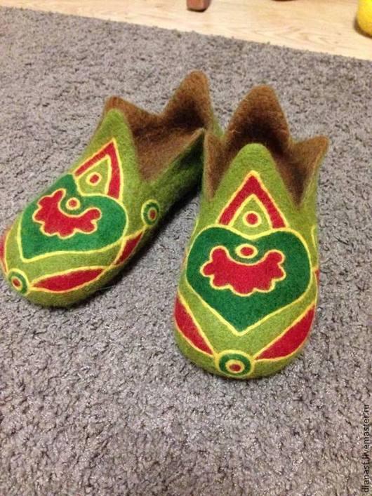 Обувь ручной работы. Ярмарка Мастеров - ручная работа. Купить Ханские -2. Handmade. Оливковый, красный, этностиль, история
