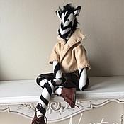 Куклы и игрушки ручной работы. Ярмарка Мастеров - ручная работа Зебра. Handmade.