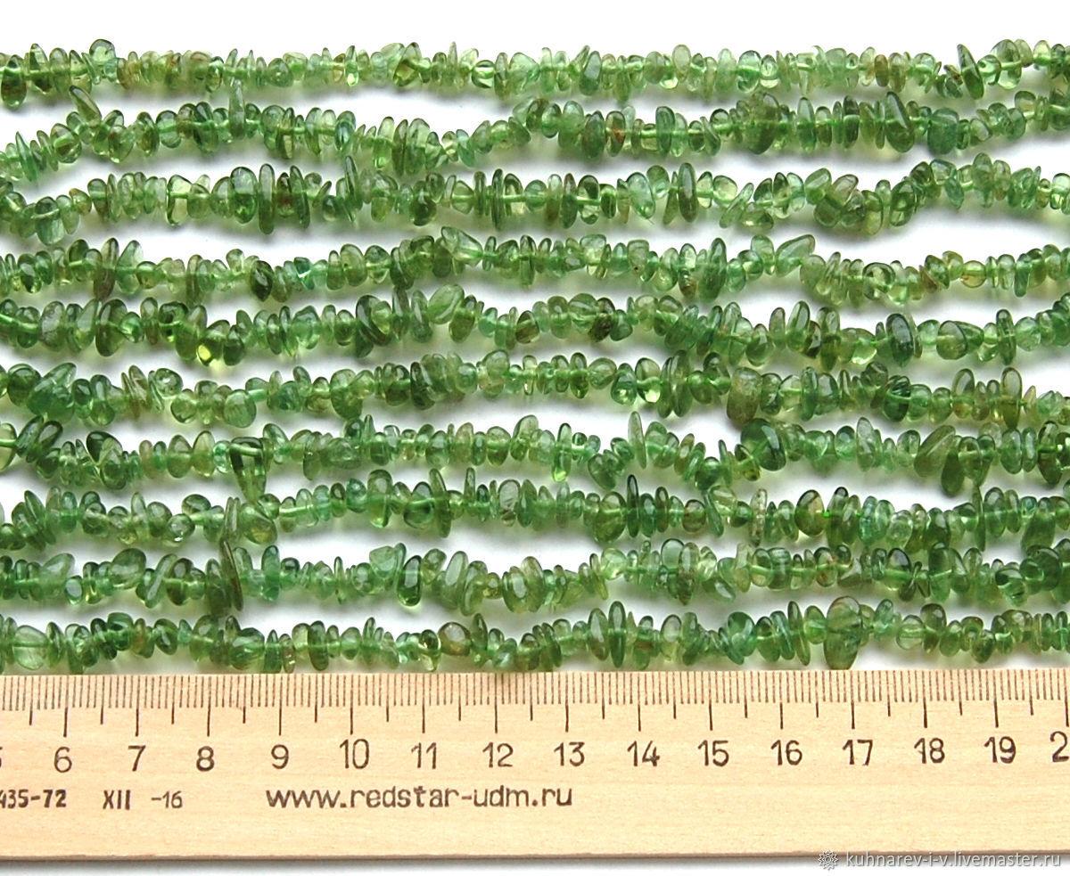 АПАТИТ зелёный крошка 5-8 мм, нить 40 см, Бусины, Майкоп,  Фото №1