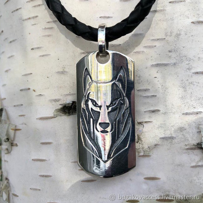 Pendant /Amulet Wolf-Algiz / Odal from silver 925, Pendants, Moscow,  Фото №1