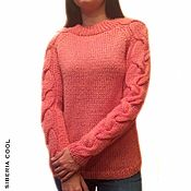Одежда handmade. Livemaster - original item Sweater women`s Dry rose, wool, mohair, braids, chunky. Handmade.