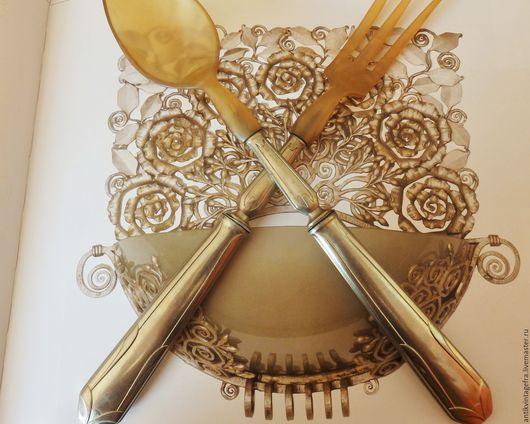 Винтажная посуда. Ярмарка Мастеров - ручная работа. Купить Антикварные приборы для салата посеребрение по металлу Франция. Handmade. Антикварные приборы