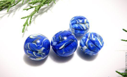 """Для украшений ручной работы. Ярмарка Мастеров - ручная работа. Купить бусины """" Ван Гог"""". Handmade. Тёмно-синий"""