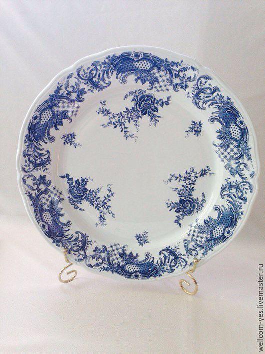 Винтажная посуда. Ярмарка Мастеров - ручная работа. Купить Тарелка. Handmade. Белый, тарелка сувенирная, фарфоровая тарелка