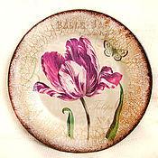 """Посуда ручной работы. Ярмарка Мастеров - ручная работа Тарелка """"Тюльпан"""". Handmade."""