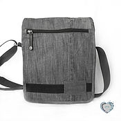 Сумки и аксессуары handmade. Livemaster - original item Bag-denim universal tablet messenger bag. Handmade.