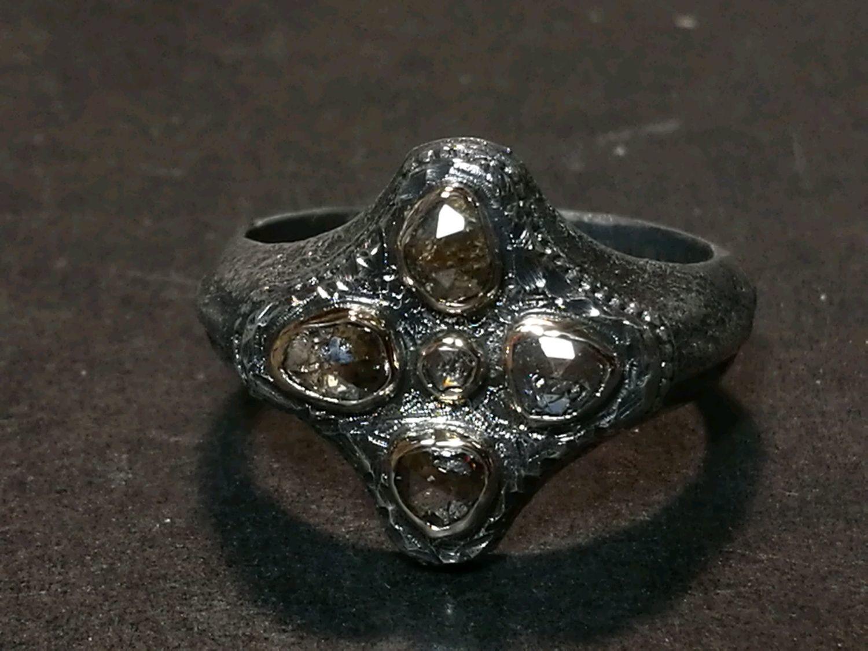 Кольцо с алмазами, Кольца, Москва,  Фото №1