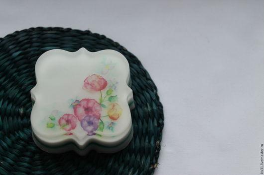 Мыло ручной работы. Ярмарка Мастеров - ручная работа. Купить Мыло с цветами. Handmade. Белый, мыло сувенирное