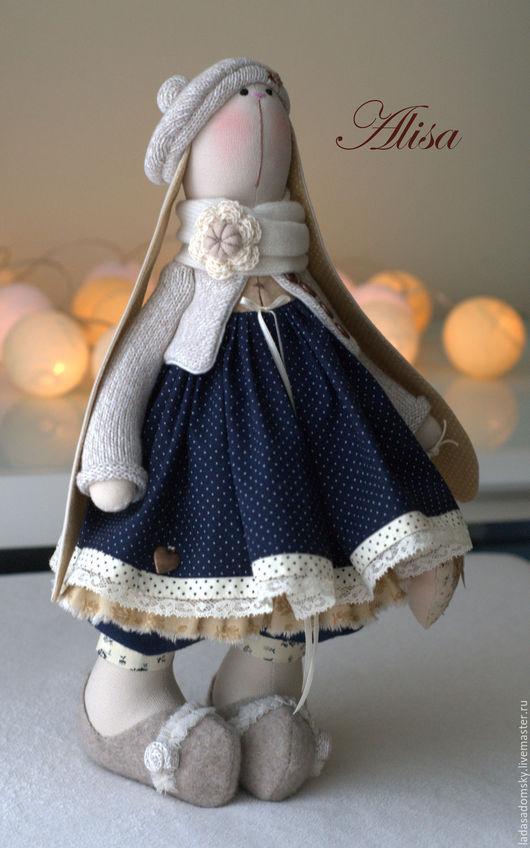 Игрушки животные, ручной работы. Ярмарка Мастеров - ручная работа. Купить Зaйка Alisa  - текстильная игрушка , 38 см. Handmade.